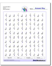 Multiplication And Division Worksheet Two Minute MultiplicationDivision 20