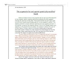 the arguments for and against genetically modified foods a level  document image preview