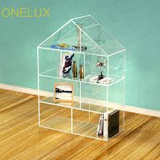Lucite Stands For Display Floor Stand House Shaped Clear Acrylic BookcaseCustom Lucite 68