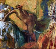 after the bath 1895 1898 edgar degas oil painting