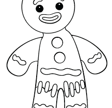 Gingerbread Cookies Coloring Pages Qnrfsubmission