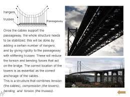 torsion bridge. 16 ropes torsion bridge