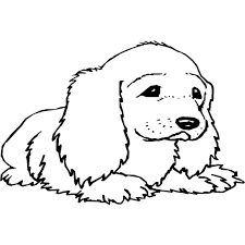 Kleurplaat Puppy Hondje