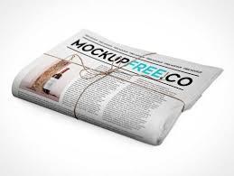 Folded Newspaper Newsletter Psd Mockup Psd Mockups