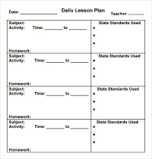 Free Preschool Printable Lesson Plan Template#454352 - Myscres