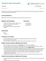 Social Studies Lesson Plans Education Com