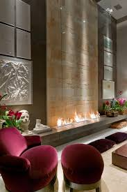 Small Picture Gorgeous See Trough Contemporary Fireplace Design With Soapstone