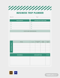 Business Trip Planner Free Business Trip Planner Template Download 32 Planners In