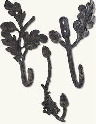 acorn and oak leaf wall hooks