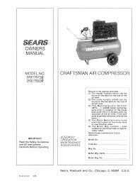 craftsman air compressor user guide manualsonline com s fa rs