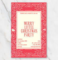 Easy Invitation Templates Christmas Invitation Template In Word For Free Classic Red