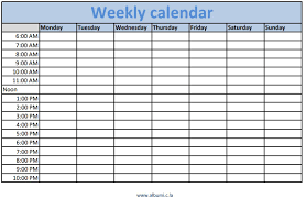 weekly schedule template with hours weekly calendar template with times oyle kalakaari co