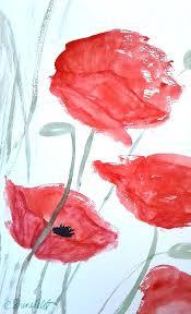 red poppy wall art poppy art poppy painting original watercolor painting red poppies wall art red