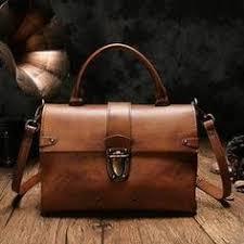 Vintage Leather Purse Satchel Handbags Shoulder Crossbody Bags Leather Satchel  Bags, Patent Leather Handbags,