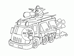 Small Picture Funny Cartoon Fire Truck coloring page for kids transportation
