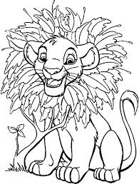 Small Picture Simba With Flowers Lion King Coloring Pages Disney Coloring