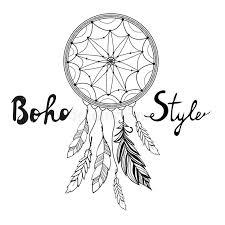 Native Dream Catchers Drawings Indian Dream Catcher Boho Style Stock Vector Illustration of 83