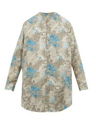 By Walid Designer Lollo Foliage Print Cotton Shirt By Walid Matchesfashion