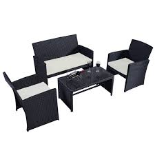 outdoor rattan patio set furniture cushioned