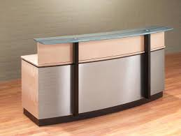 custom reception desks custom stainless steel reception desks with a curved glass counter for modern reception custom reception desks