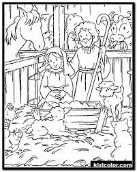 Seamless abstract monochrome floral pattern. Nativity Coloring Pages Idea Whitesbelfast