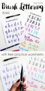 free brush lettering 1