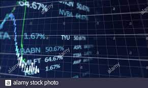 stock market tickers and graphs ...