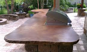 Outdoor Kitchen Countertop Outdoor Kitchen Concrete Countertops