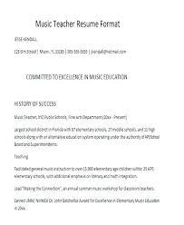 Resume Format For School Teacher Resume Format For Teachers High ...
