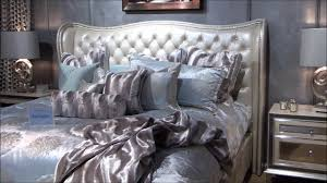 hollywood swank bedroom set. Contemporary Hollywood Hollywood Swank Upholstered Bedroom Set In Pearl By Jane Seymour  Amini  Furniture  YouTube And M