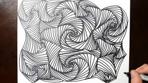 Art Doodle How To Draw Line Illusions Doodle Art Drawing