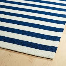escape striped rug in navy