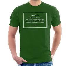 Religious Quotes Everlasting Life John 3 16 Mens T Shirt