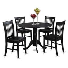 5 Pc Small Kitchen Table And Chairs Set Round Kitchen Table And 4