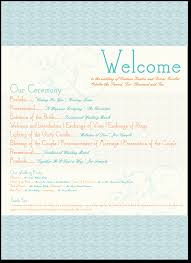 sample wedding ceremony program wedding ceremony program outline template