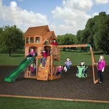 backyard discovery tanglewood cedar wooden swing set toddler