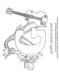 Free printable coloring pages for kids! Guitar Coloring Pages For Kids Coloring Home