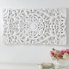 pretty design wood carved wall art tree crate and barrel artwork uk white asian bali