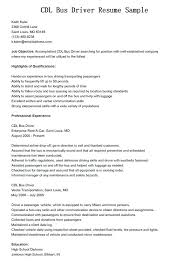 Cdl Driver Resume Driver Resume Examples Templates Truck Sample ...