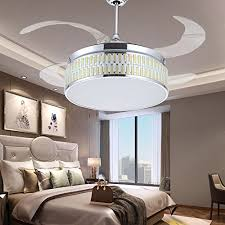 tipton light sliver invisible ceiling fan light 42 inch has three change colors led ceiling fan