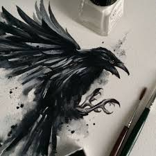 Watercolor Crow Watercolor Gabriele Savio Tattoo Facebook