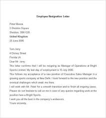 Employee Resignation Letter Gorgeous 44 Resignation Letter Template Word PDF IPages Free Premium