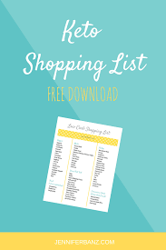 all fee download keto shopping list free download low carb with jennifer