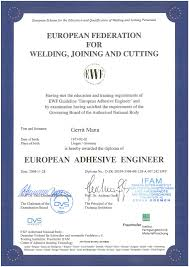 our certifications techno composites we employ qualified staff in our production and assembly departments european adhesive engineers european adhesive specialists and european adhesive