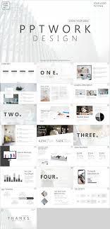 Best Design Presentation Slides Best White Company Report Powerpoint Template Powerpoint