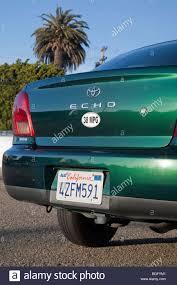 Rear view of 38 miles per gallon fuel efficient Toyota Echo car ...
