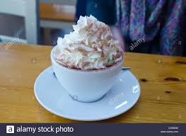 cup of hot chocolate with whipped cream. Unique Hot A Large Cup Of Hot Chocolate With Whipped Cream Marshmallows And Cocoa  Dusting  With Cup Of Hot Chocolate Whipped Cream
