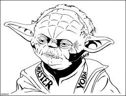 Star Wars Coloring Page Yoda And Pages - glum.me