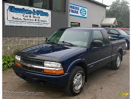 2000 Chevrolet S10 LS Extended Cab 4x4 in Indigo Blue Metallic ...
