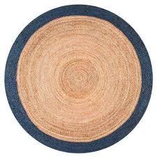 eleonora navy 6 ft round area rug
